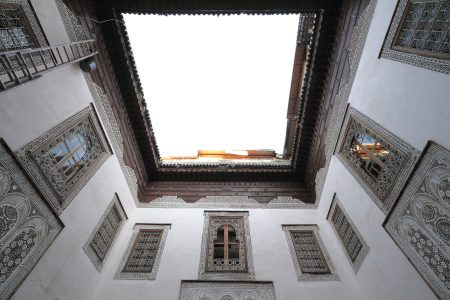 Marrakech, traditional courtyard facade