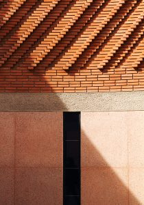 Marrakech, facade detail of Musée Yves Saint Laurent