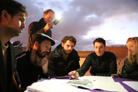 Marrakech, Patalab team reviewing drawings