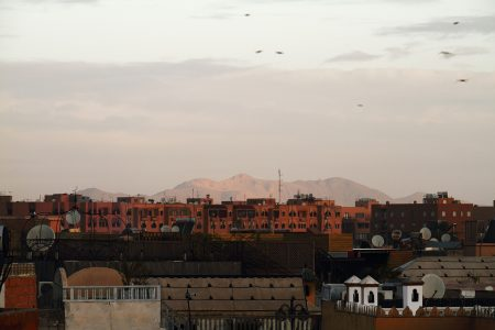 Marrakech, view to Atlas mountains