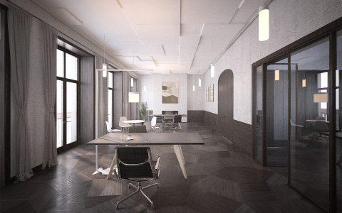 Marylebone Office Refurbishment, visualisation office