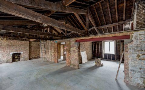 Marylebone Office Refurbishment, under construction top floor