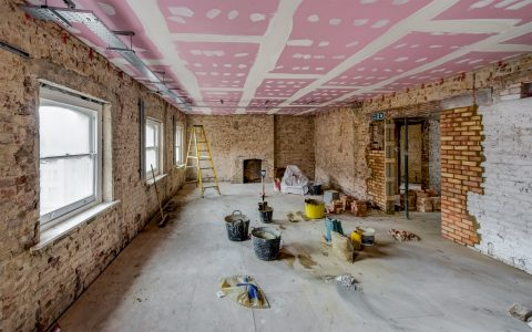 Marylebone Office Refurbishment, under construction 2nd floor