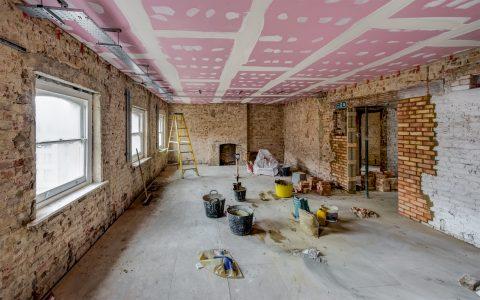 Marylebone Office Refurbishment, under construction 2nd floor