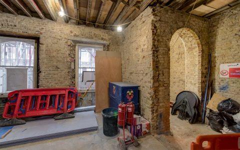 Marylebone Office Refurbishment, under construction entrance lobby