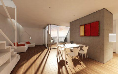 Reinickendorfer 65 6 & 66, new penthouse interior visualisation