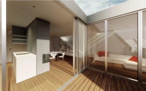 Reinickendorfer 65 6 & 66, new penthouse exterior visualisation