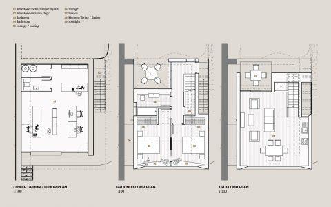 Flexible Housing: floor plans of unit a