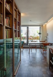 Whittington Estate Apartment: study and dining area