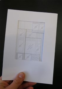 house by the lake: rear elevation drawing