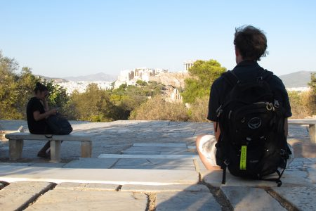 Athens office trip, view onto the Acropolis