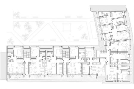 Berlin loft conversion, floor plan