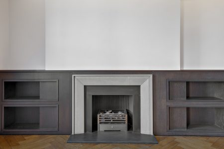 Marylebone Penthouse, fireplace