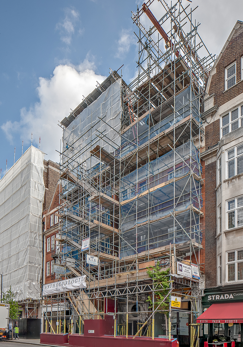 Marylebone Penthouse, during construction