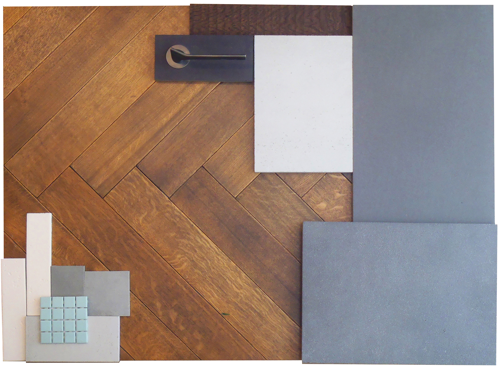 Marylebone Penthouse, Material sample board