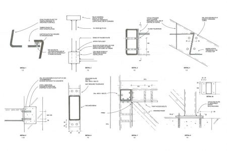 folded steel staircase, construction details
