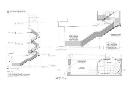 folded steel staircase, general arrangement