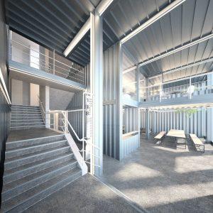 Container Architektur, Innenraumperspektive