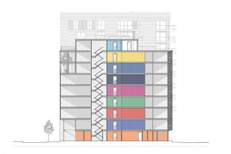Container Architektur, Schnitt