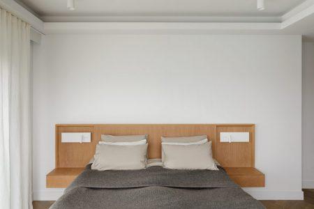 Penthouse, Schlafzimmer mir maßgefertigtem Bettkopfteil