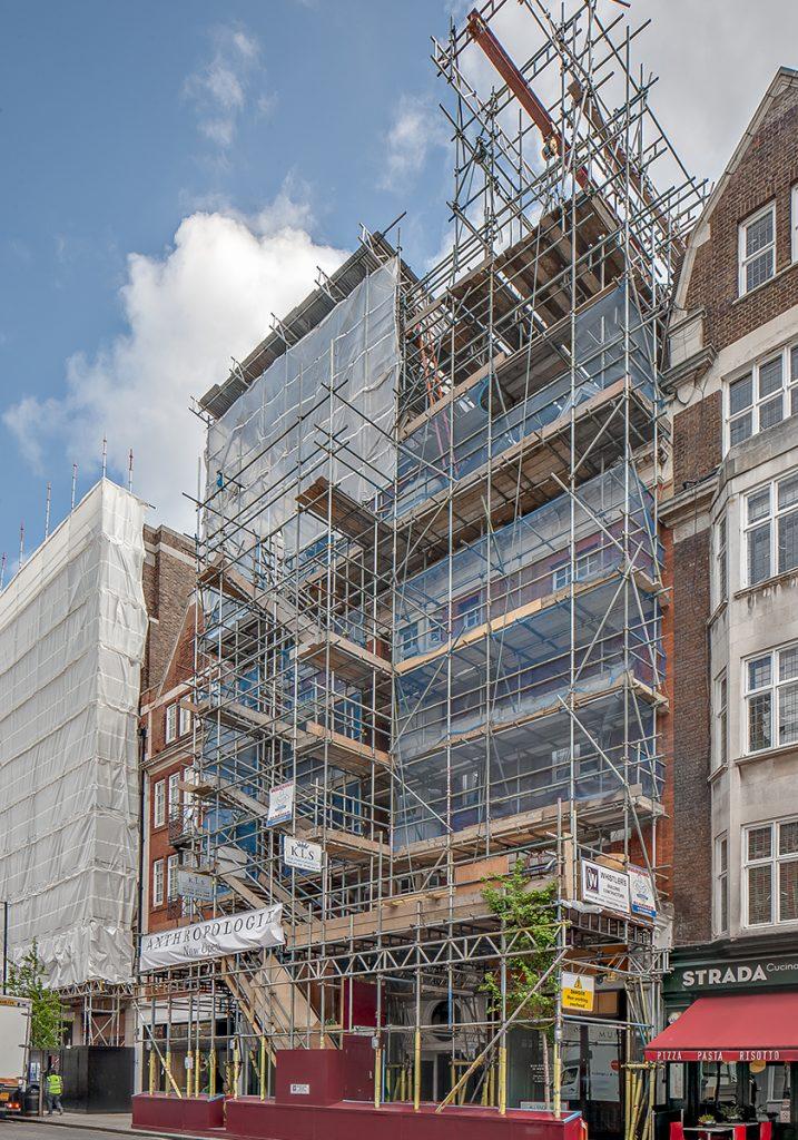 Loftausbau, Bauphase Fassade