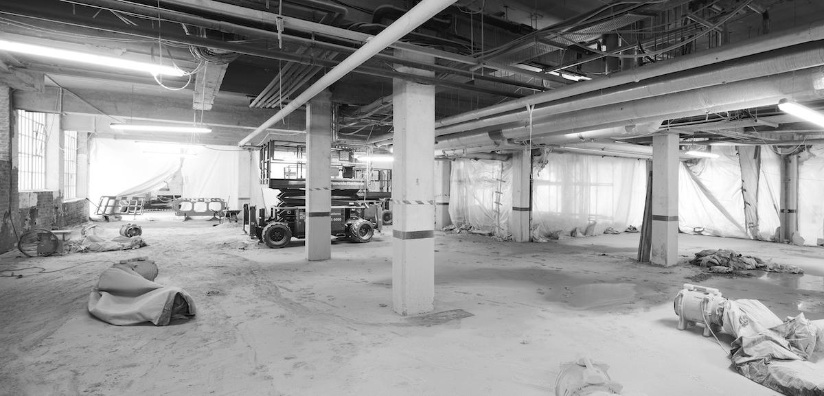 Umbau Tiefgarage zu Büro, Bauphase