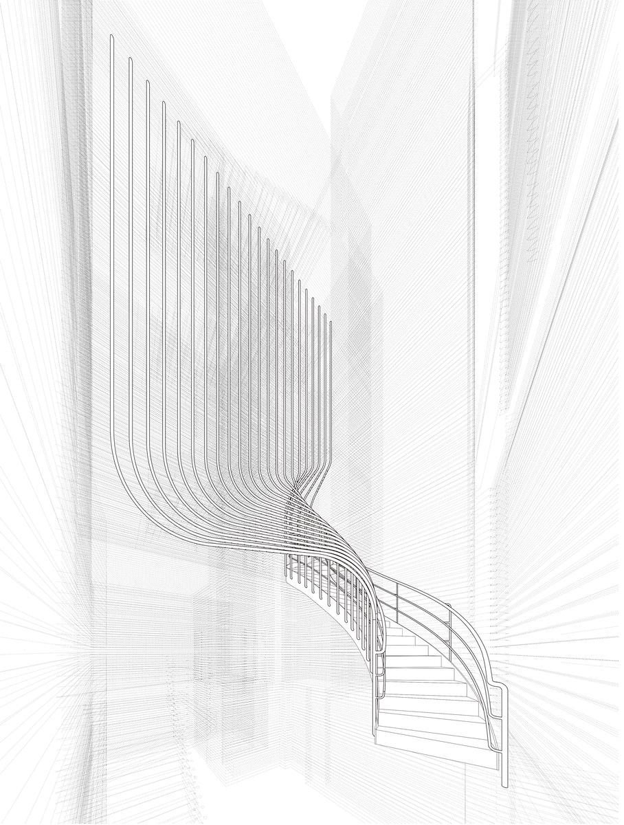 141-143 Shoreditch High Street, Treppenzeichnung