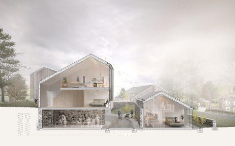 Wandelbarer Wohnungsbau, Schnitt
