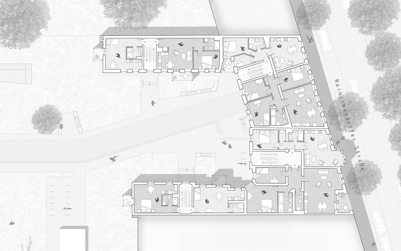 Grundriss Regelgeschoss Reinickendorfer Straße 65 & 66
