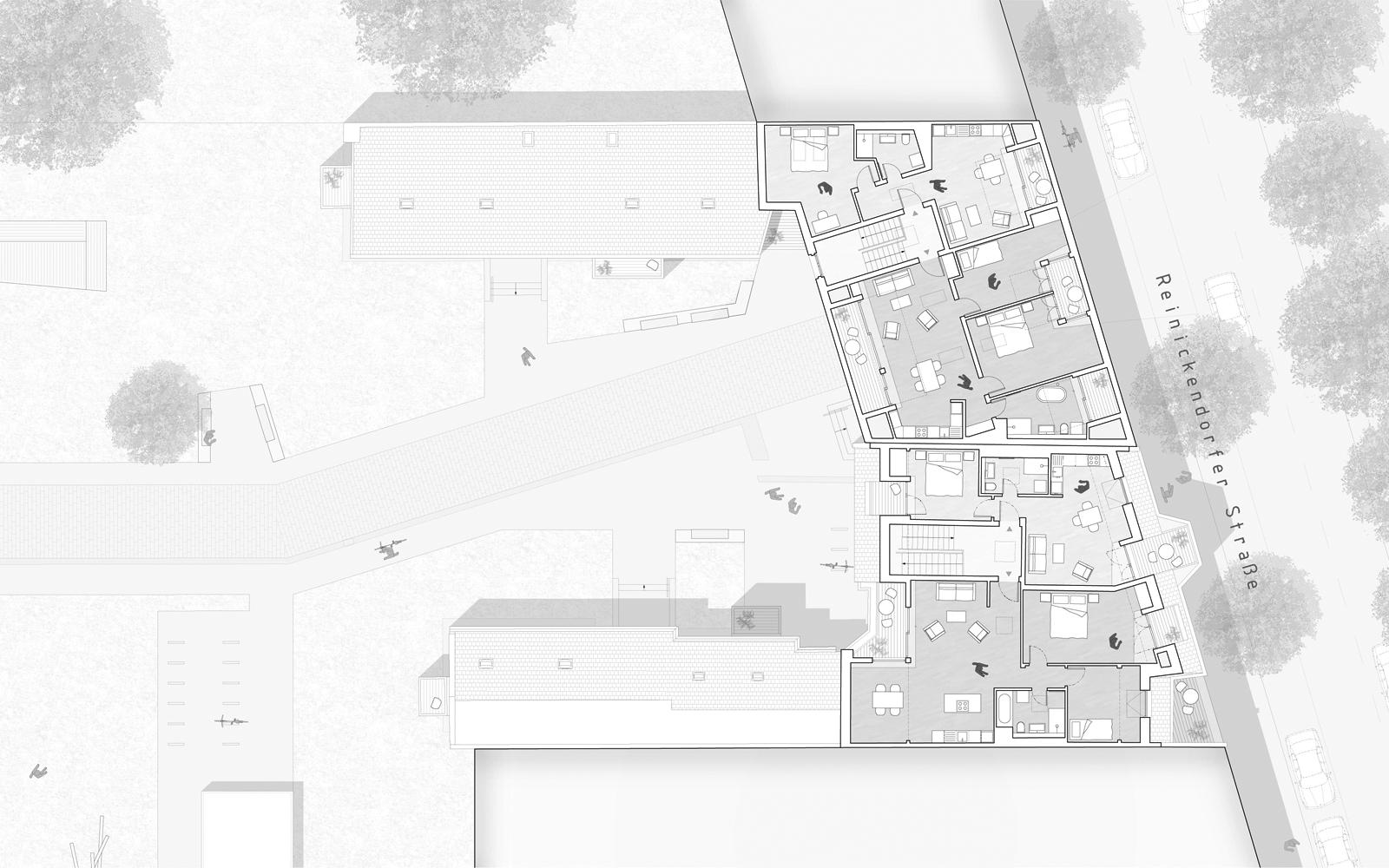 Grundriss Dachgeschoss Reinickendorfer Straße 65 & 66