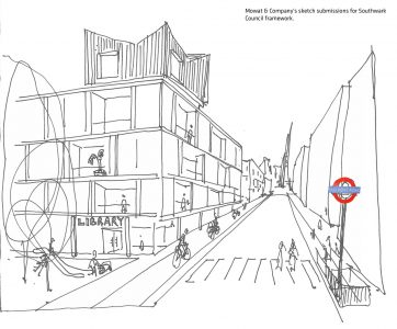 Southwark framework, Mowat & Company sketch