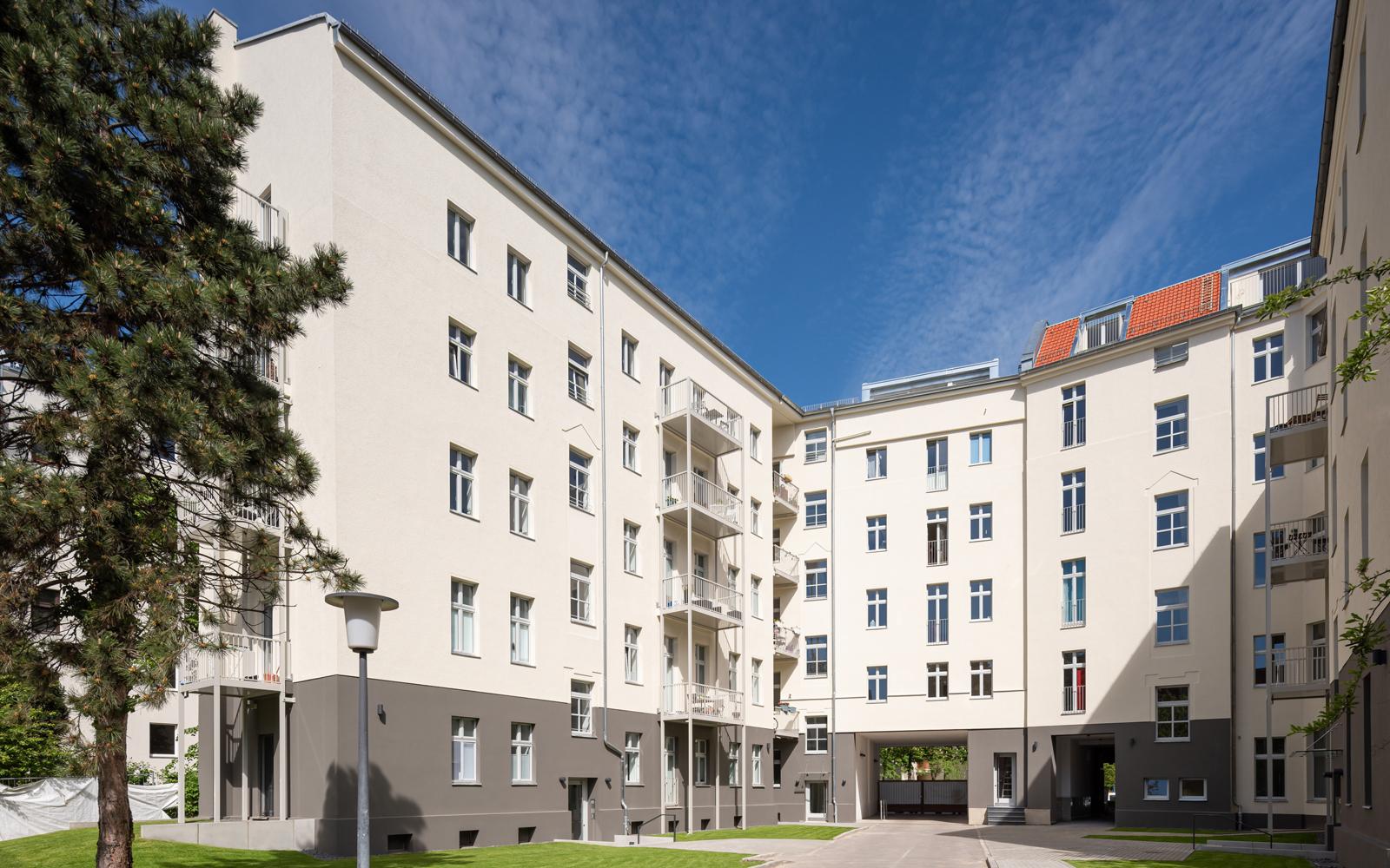 Property renovation Berlin, courtyard
