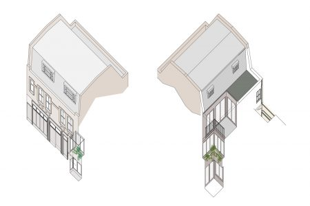 Marylebone Mews House, axonometric drawing