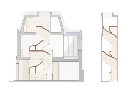 Marylebone Mews House, section drawing