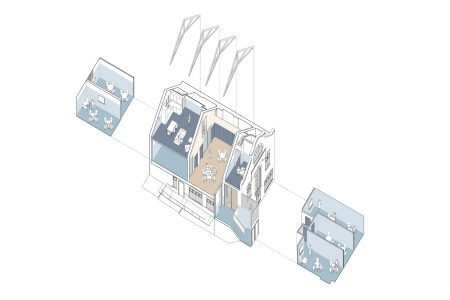 Office at Crown Street, axonometric drawing