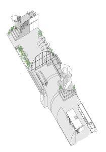 Transylvanian farmhouse, axonometric drawing of basement