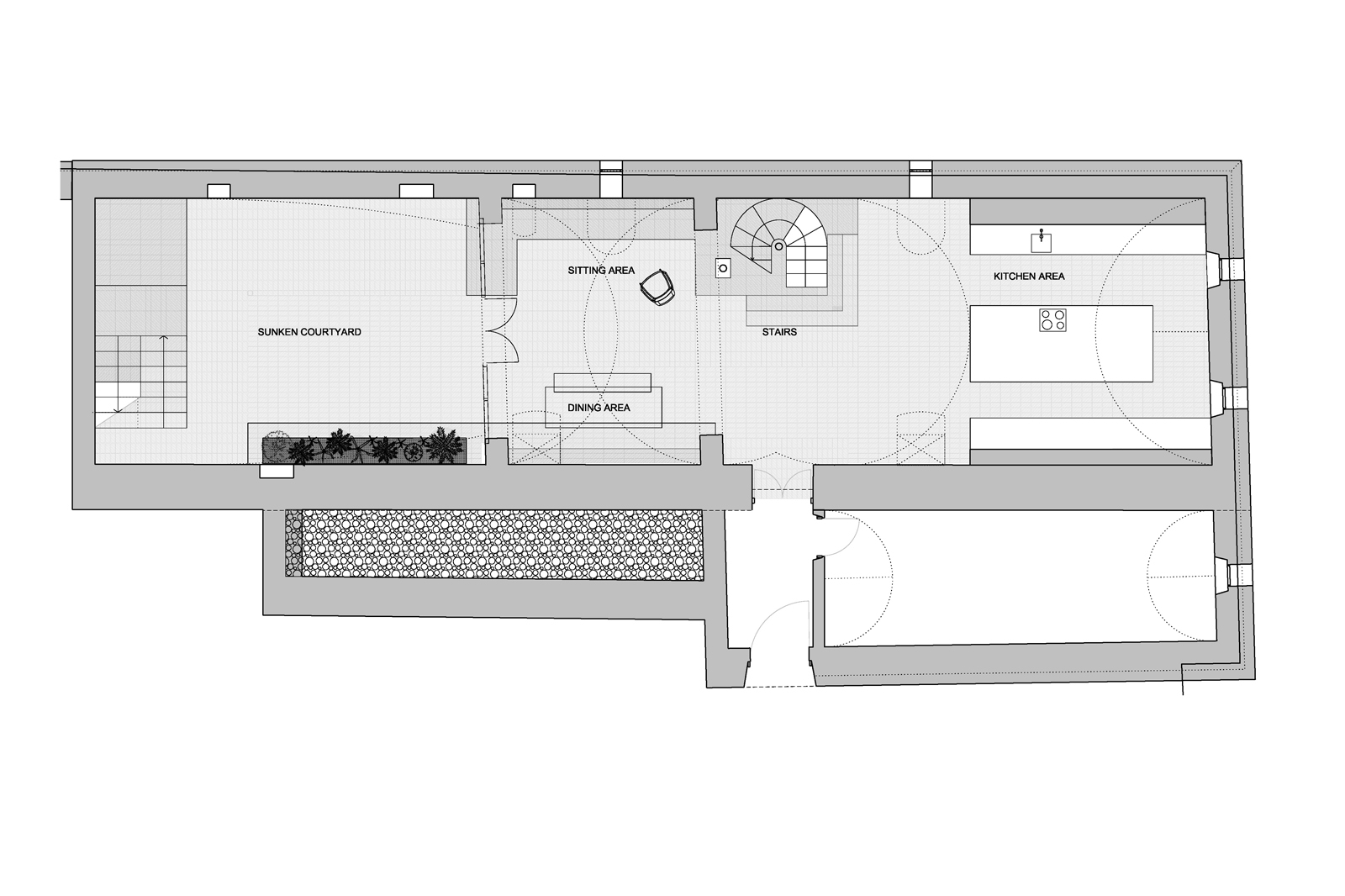 Transylvanian farmhouse, basement floor plan