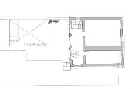 Transylvanian farmhouse, ground floor plan