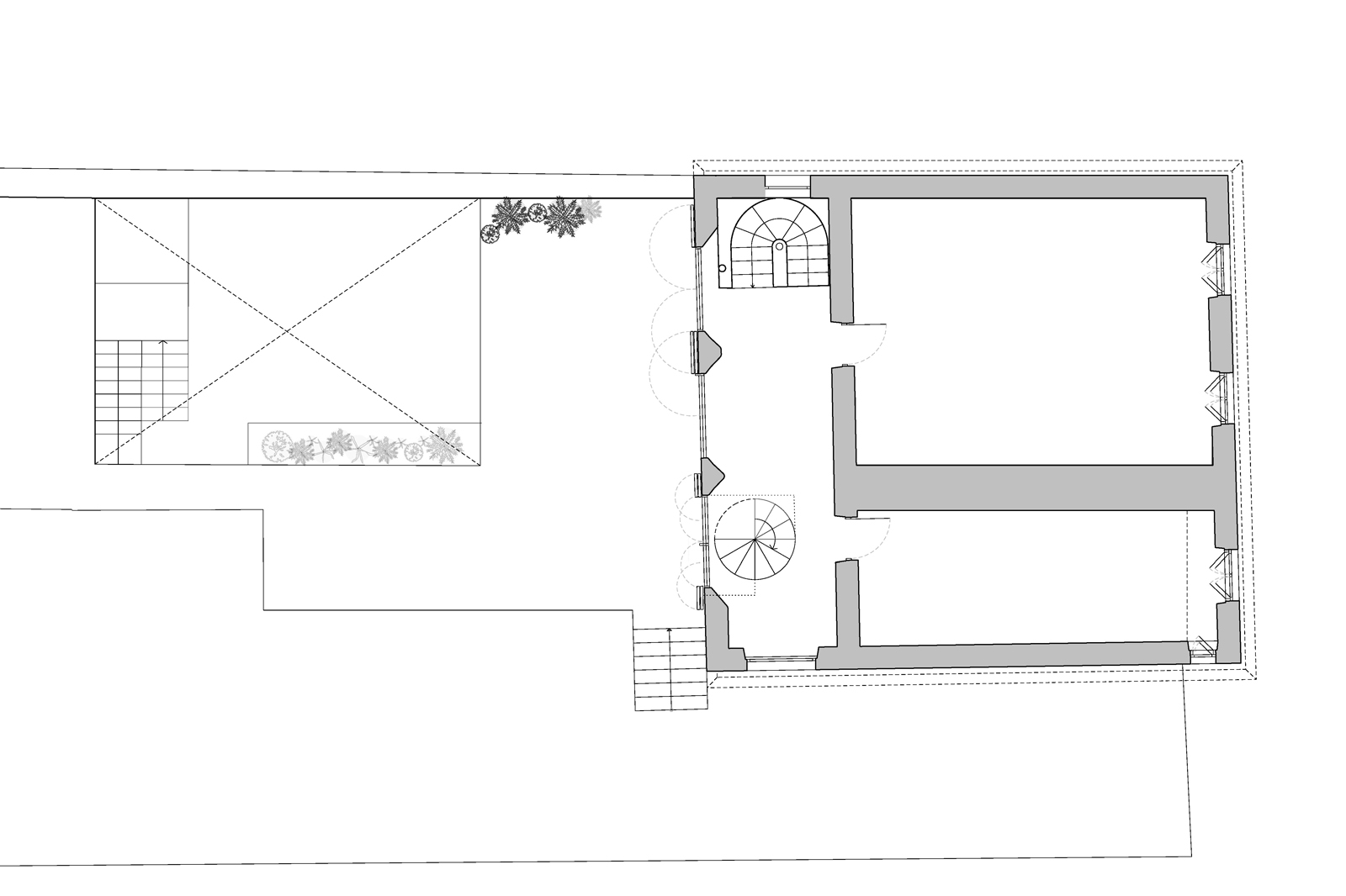 Transylvanian farmhouse, ground floor plan