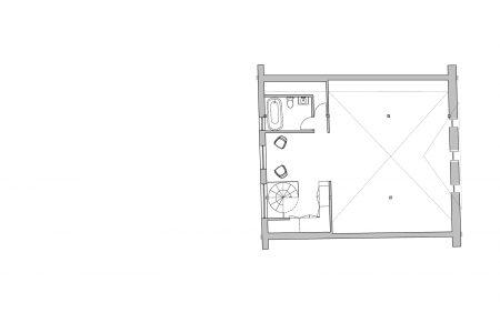 Transylvanian farmhouse, first floor plan