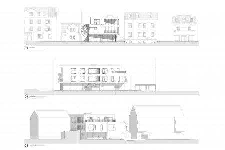 Neubau Wohn und Geschäftshaus, Ansichten