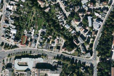 Neubau Wohn und Geschäftshaus, Luftbild