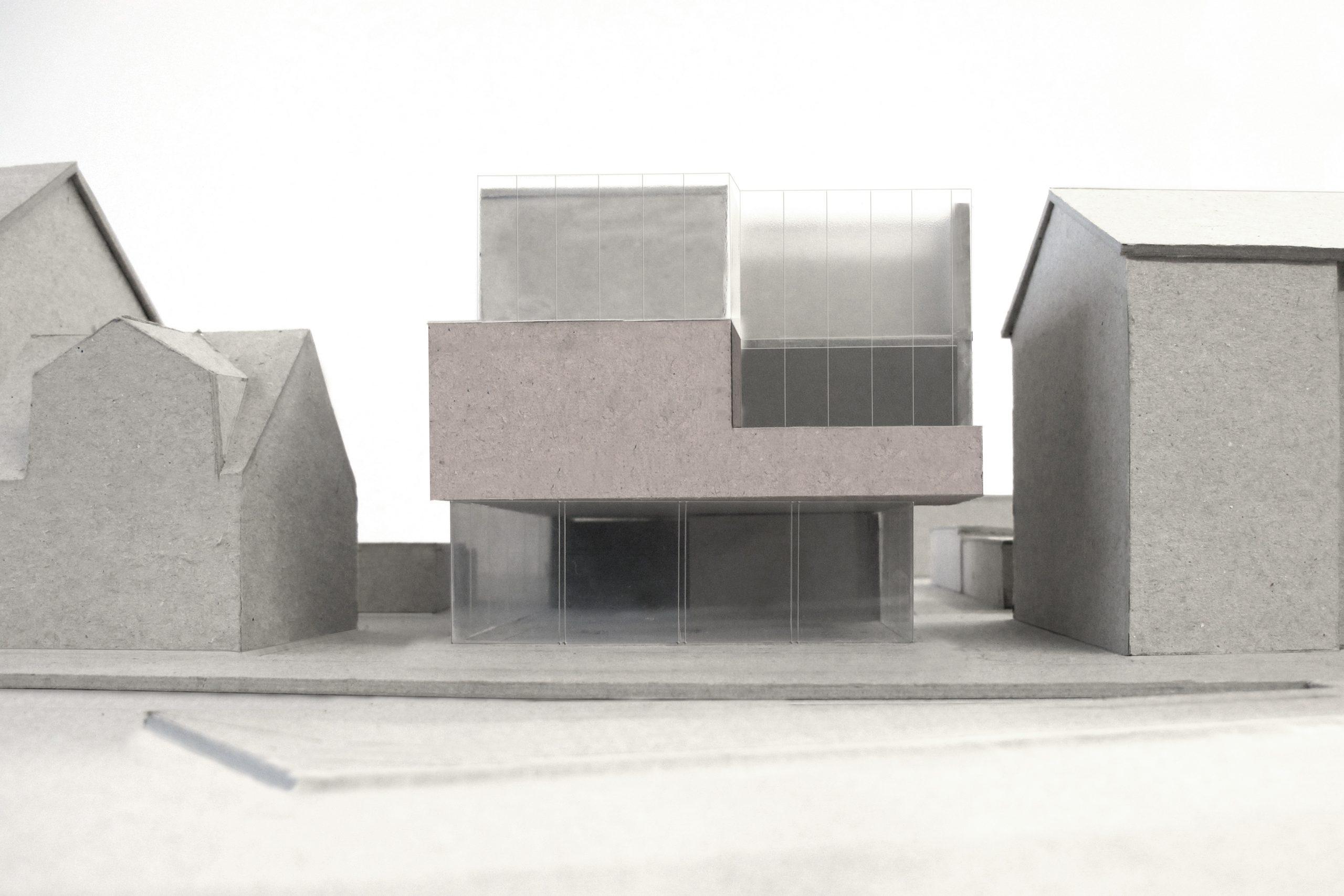 Neubau Wohn und Geschäftshaus, Model