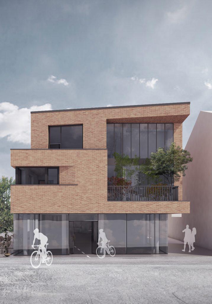New Build in Neubrandenburg, visualisation of front facade