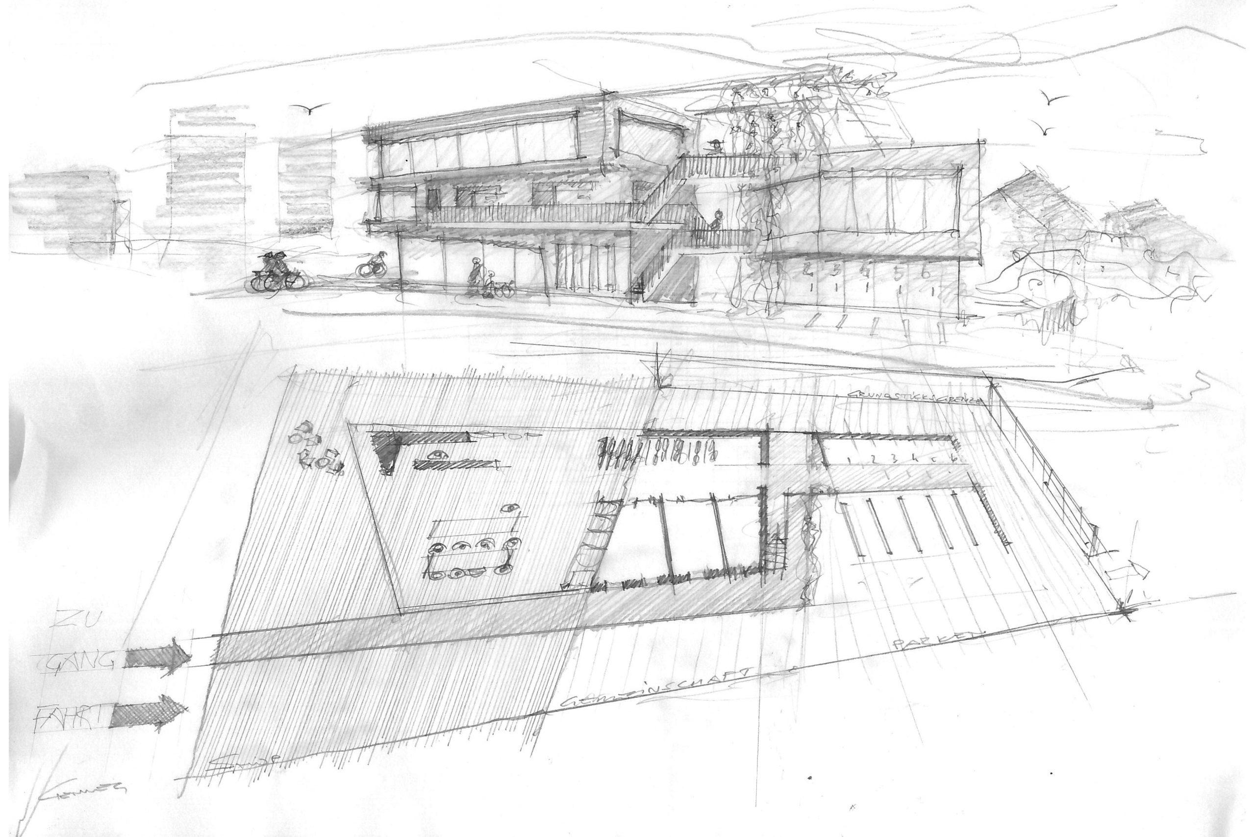 Rostocker Strasse, concept sketch