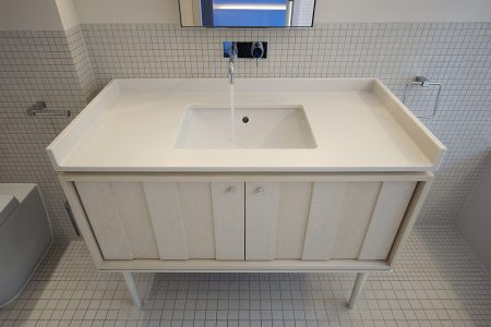 Eclectic House, bathroom bespoke vanity unit