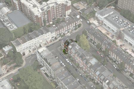 Hamilton Gardens Townhouse, aerial view