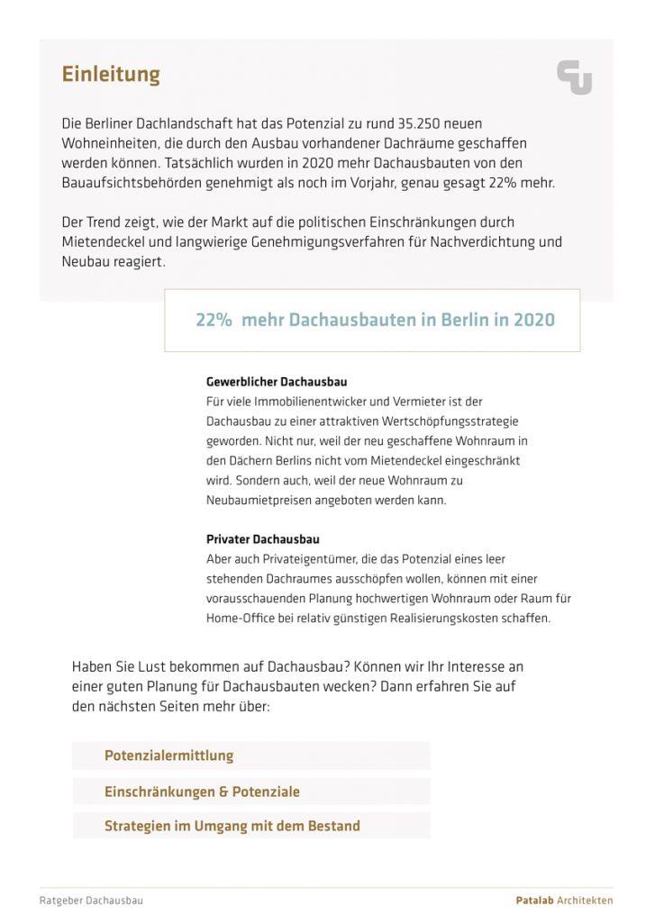 Ratgeber Berliner Dachaubauten: Einleitung