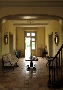 Chateau entrance hall