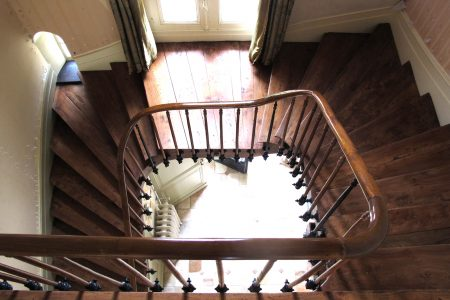 Chateau wooden staircase